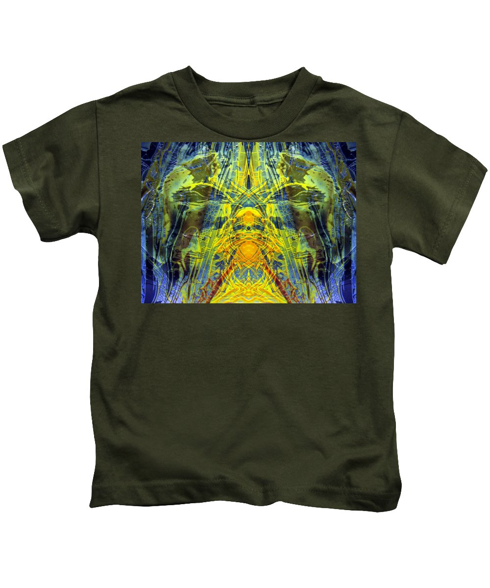 Surrealism Kids T-Shirt featuring the digital art Decalcomaniac Intersection 1 by Otto Rapp