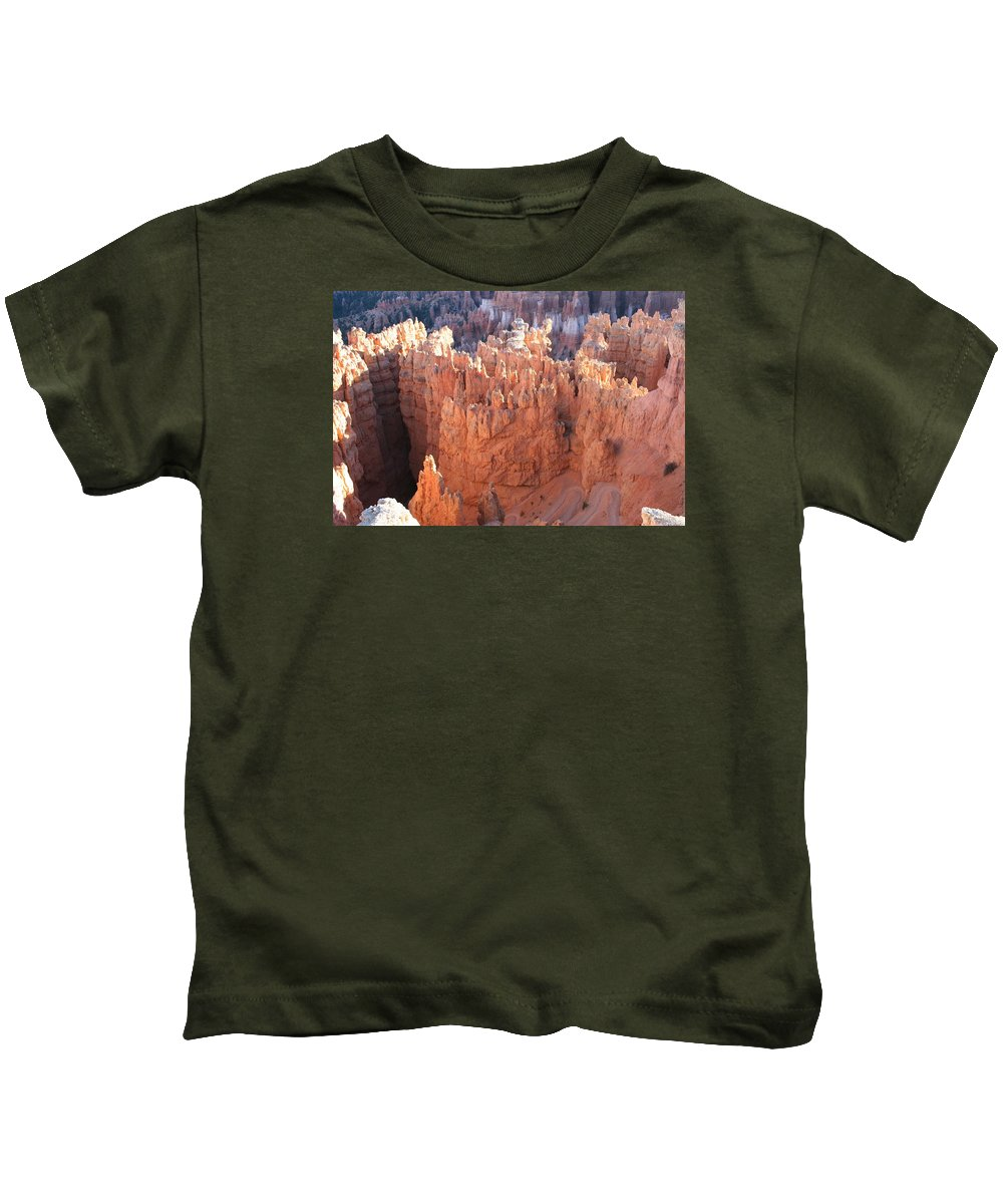 Canyon Kids T-Shirt featuring the photograph Deep Canyon - Bryce Np by Christiane Schulze Art And Photography