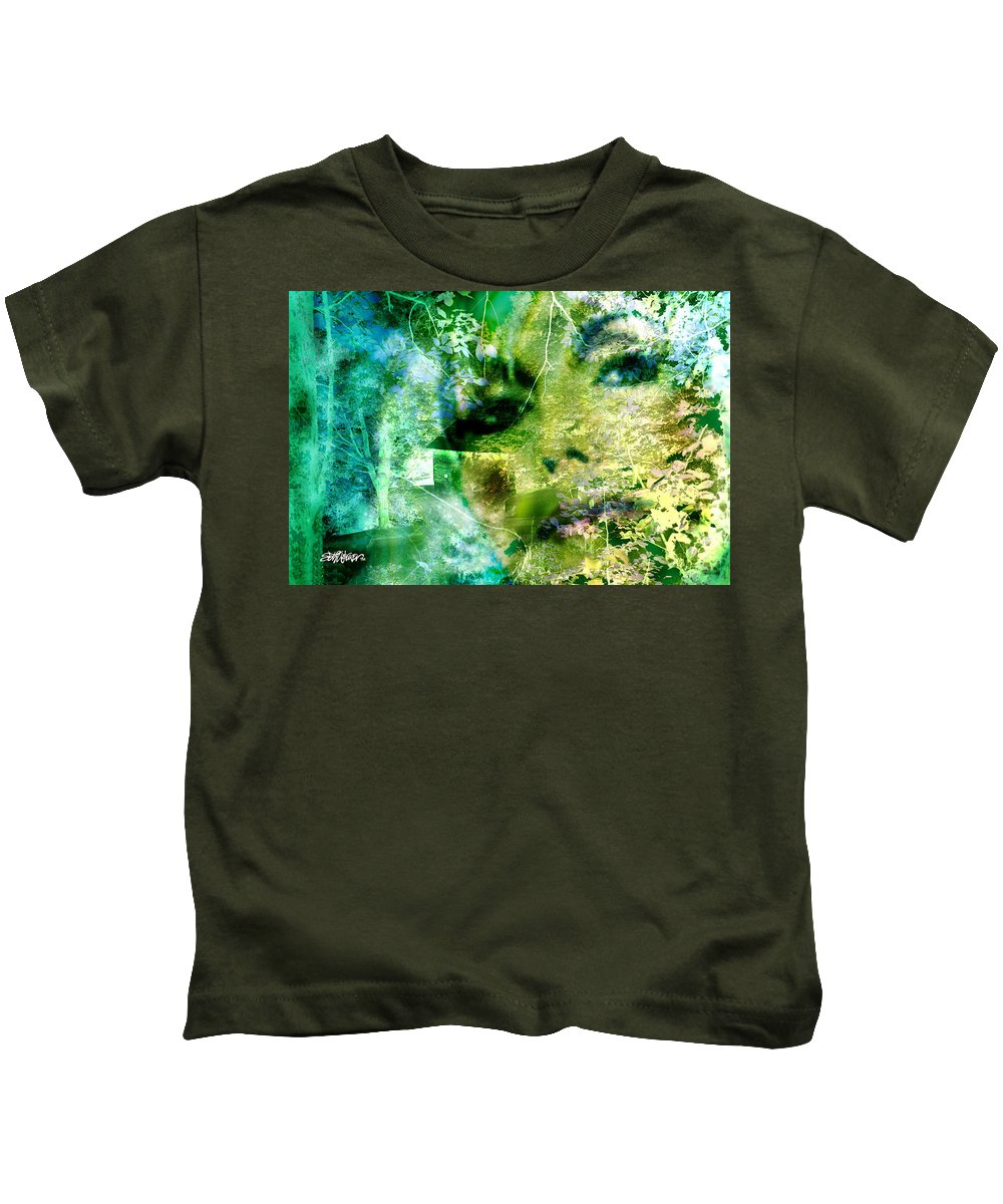 Deep Woods Wanderings Kids T-Shirt featuring the digital art Deep Woods Wanderings by Seth Weaver