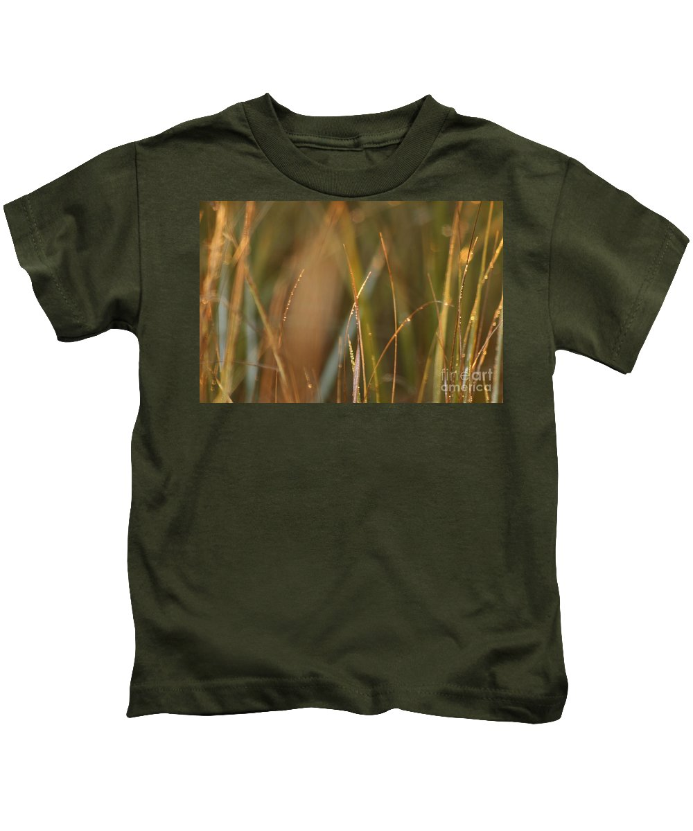 Dew Kids T-Shirt featuring the photograph Dewy Grasses by Nadine Rippelmeyer