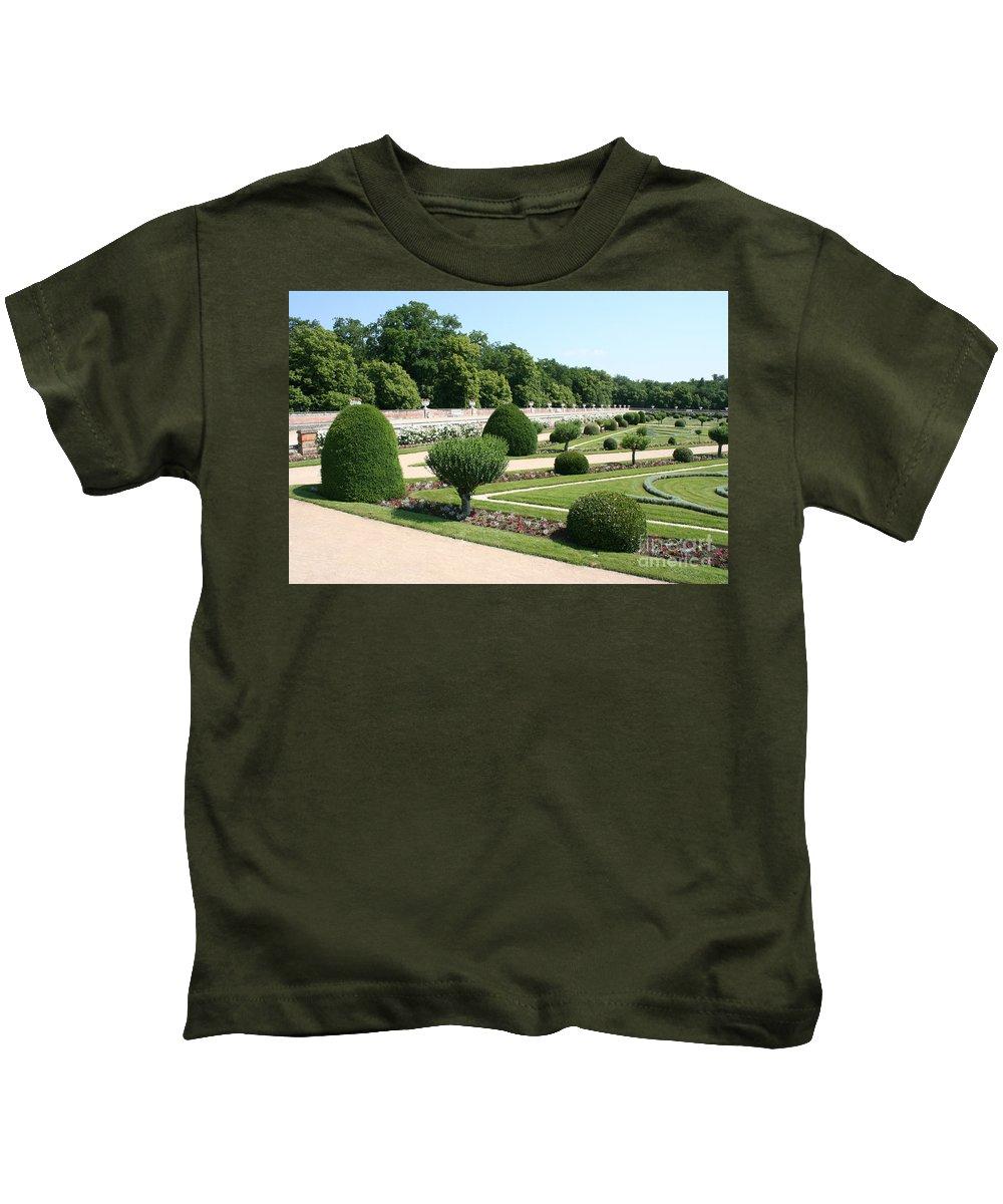 Garden Kids T-Shirt featuring the photograph Diane De Poitiers' Gardens by Christiane Schulze Art And Photography