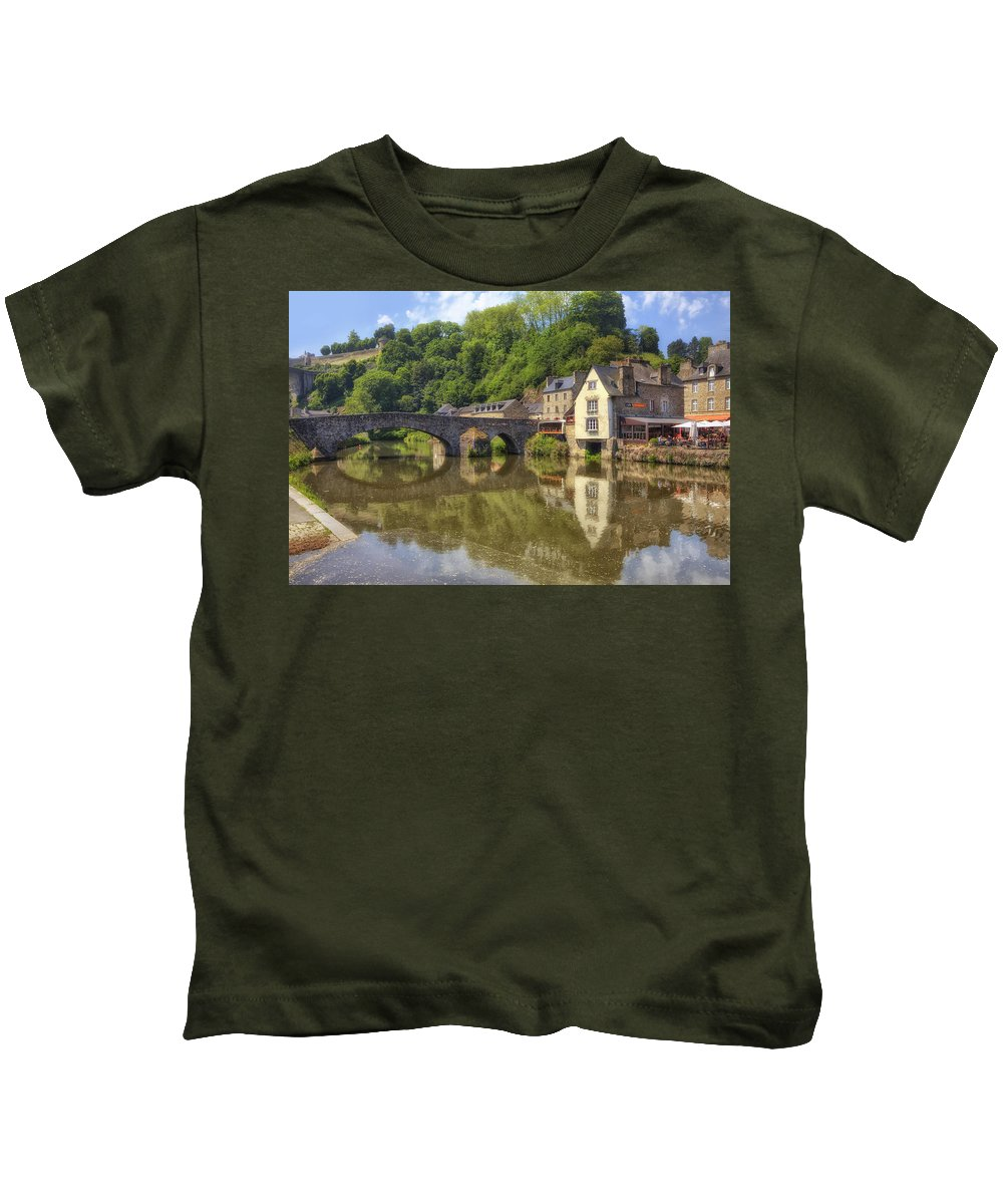 Port Kids T-Shirt featuring the photograph Dinan - Brittany by Joana Kruse