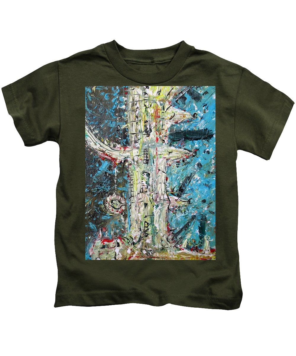 Docks Kids T-Shirt featuring the painting Docks by Fabrizio Cassetta