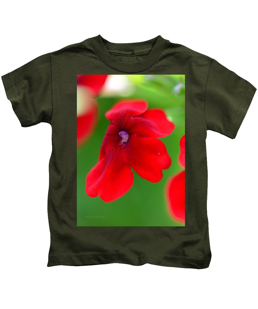 Flower Kids T-Shirt featuring the photograph Don't Be Shy by Donna Blackhall