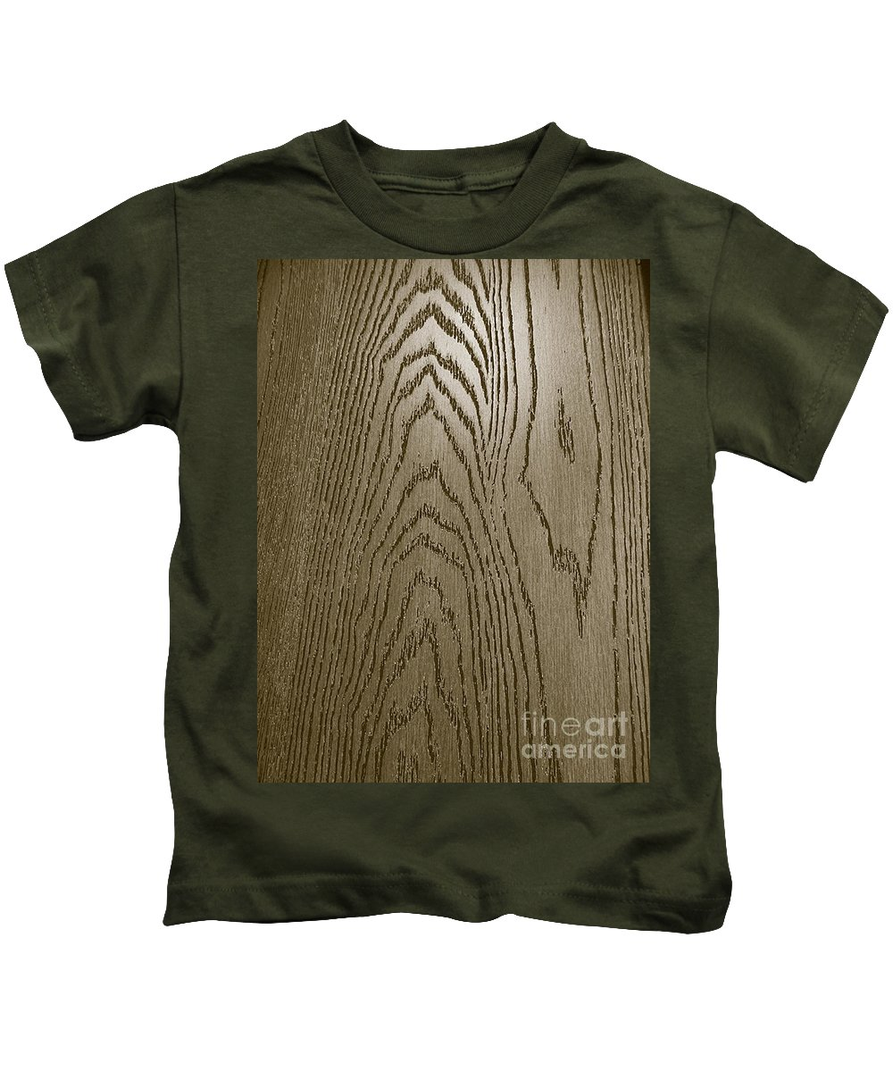 Wood Surface Kids T-Shirt featuring the photograph Door- Male Surface by Fei A
