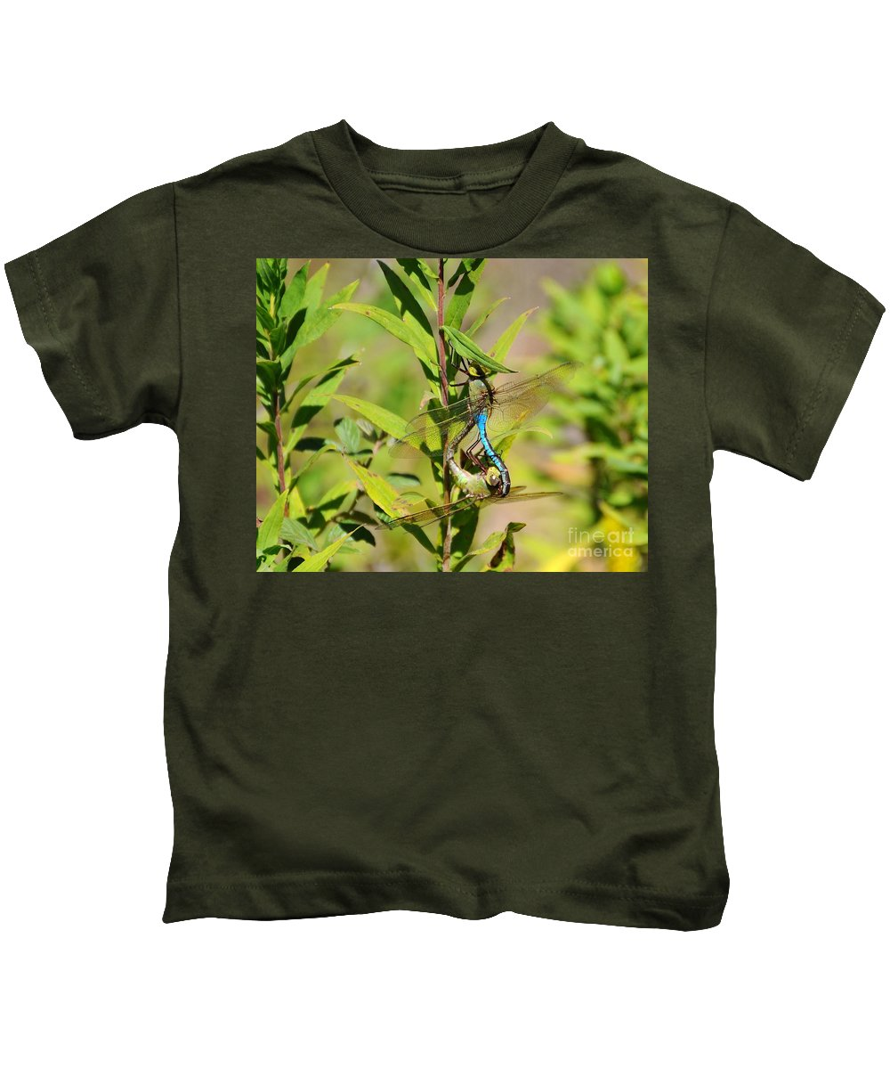 Dragonfly Kids T-Shirt featuring the photograph Double Dragon by Al Powell Photography USA