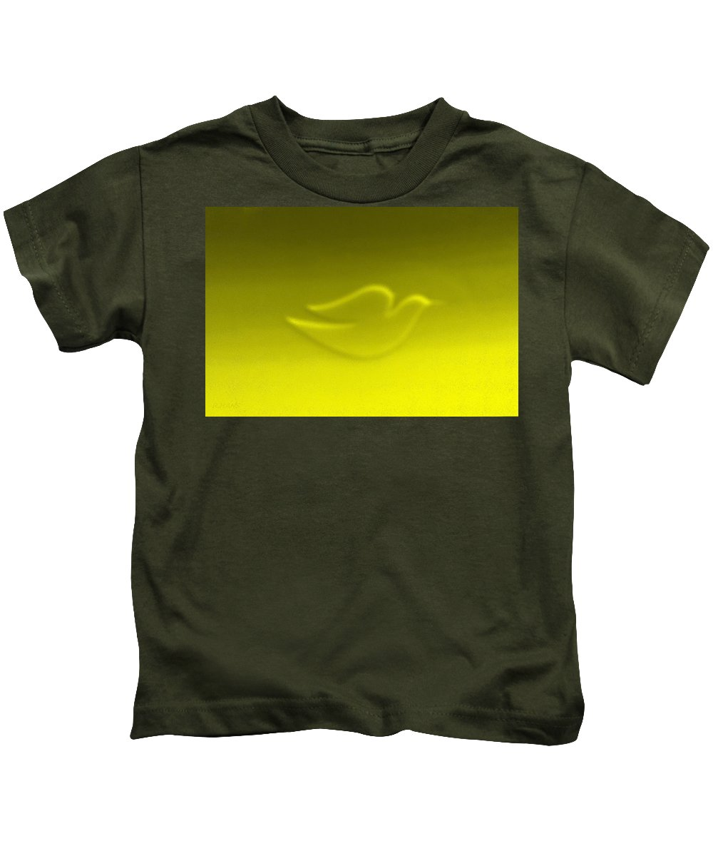 Dove Kids T-Shirt featuring the photograph Dove Yellow by Rob Hans