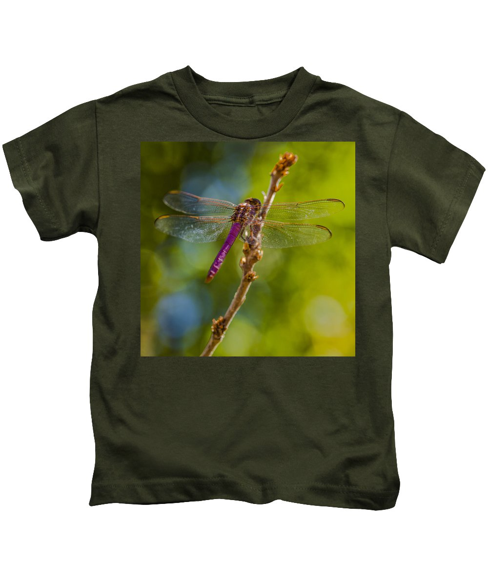 Dragonfly Kids T-Shirt featuring the photograph Dragon Fly Or Not by Scott Campbell