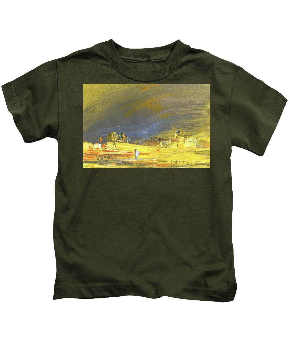 Landscapes Kids T-Shirt featuring the painting Dreaming Of Morocco by Miki De Goodaboom