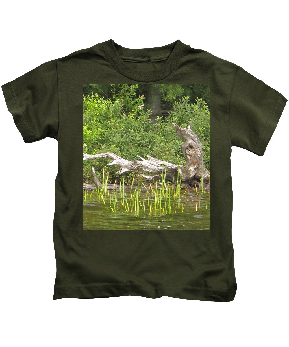 Manitoulin Kids T-Shirt featuring the photograph Driftwood by Ian MacDonald