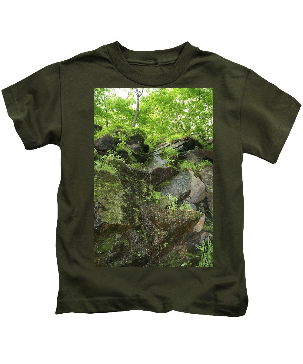 Landscape Kids T-Shirt featuring the photograph Dripping by Neal Eslinger