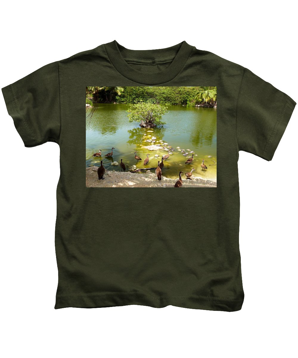 Color Kids T-Shirt featuring the photograph Duck Island by Amar Sheow