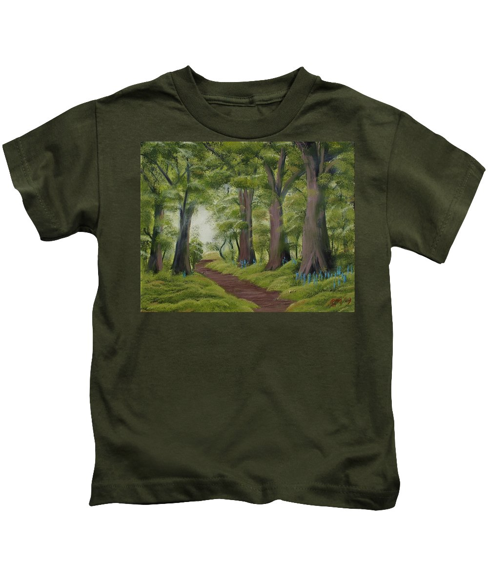 Painting Kids T-Shirt featuring the painting Duff House Walk by Charles and Melisa Morrison