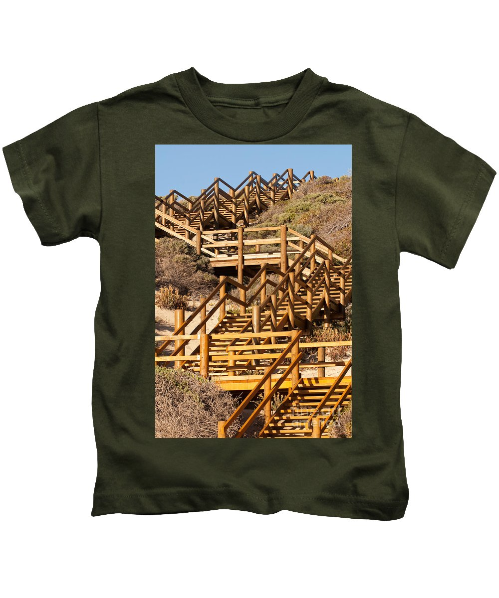 Australia Kids T-Shirt featuring the photograph Dune Steps 06 by Rick Piper Photography