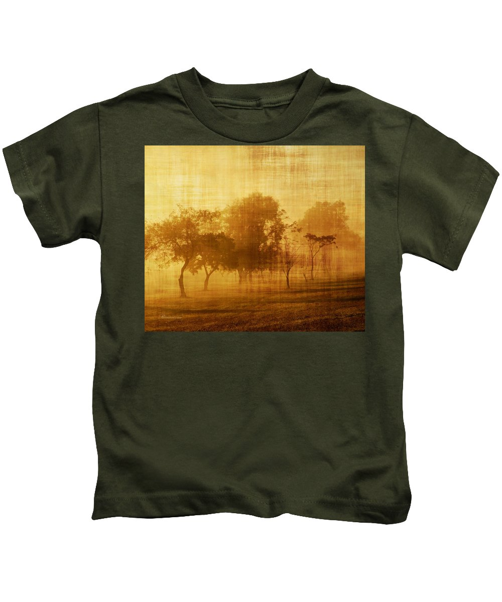 Vintage Kids T-Shirt featuring the mixed media Dusty Mornings In The Sun Vintage by Georgiana Romanovna