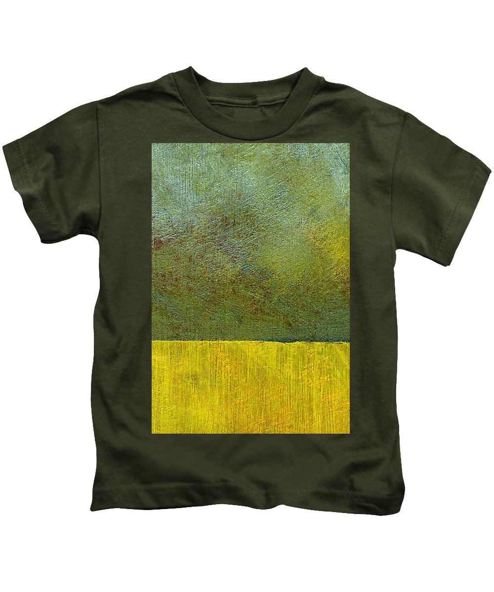 Abstract Landscape Kids T-Shirt featuring the painting Earth Study Two by Michelle Calkins