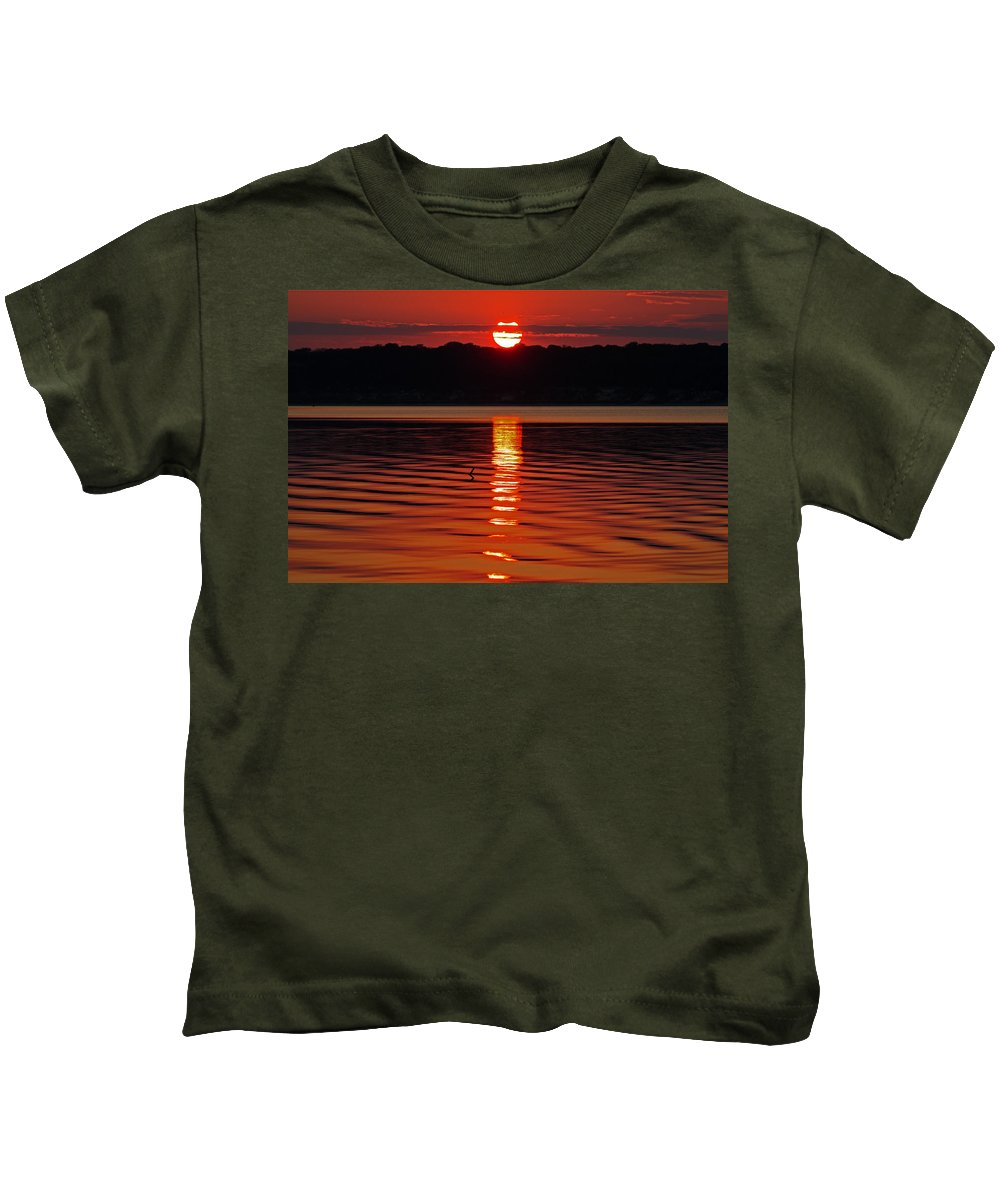 Landscape Kids T-Shirt featuring the photograph Eclipse Sunset by Ronnie Prcin