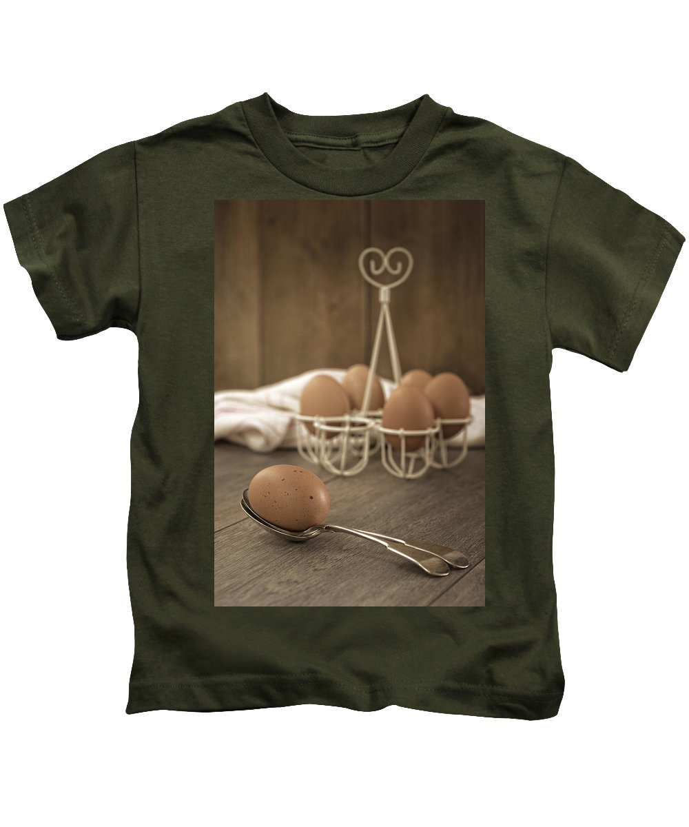 Eggs Kids T-Shirt featuring the photograph Eggs by Amanda Elwell