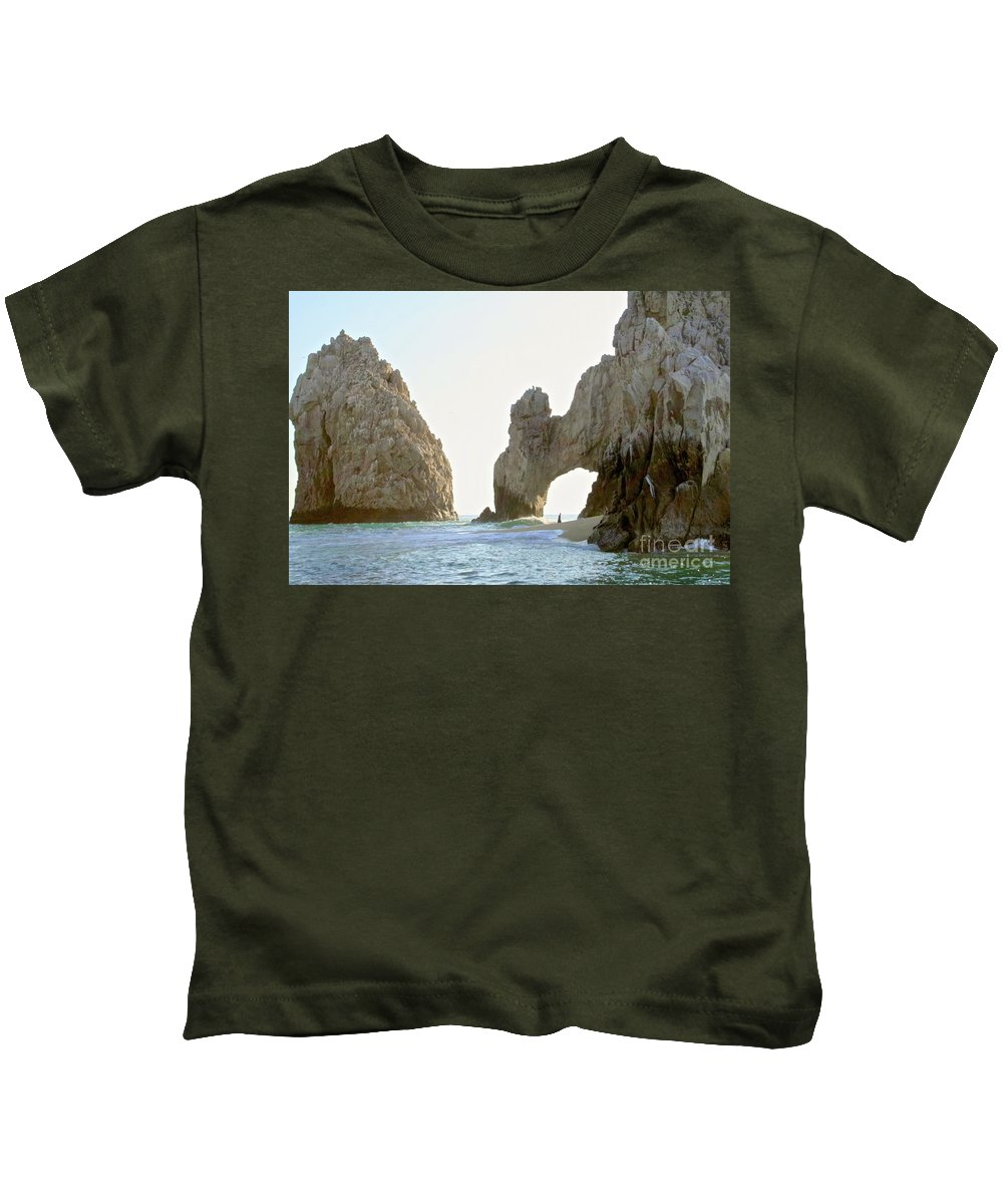 Arc Kids T-Shirt featuring the photograph El Arco De Cabo San Lucas by Christy Gendalia