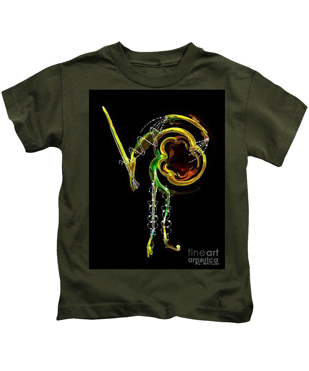 Matador Kids T-Shirt featuring the digital art El Asesino En Su Traje De Luces by RC DeWinter