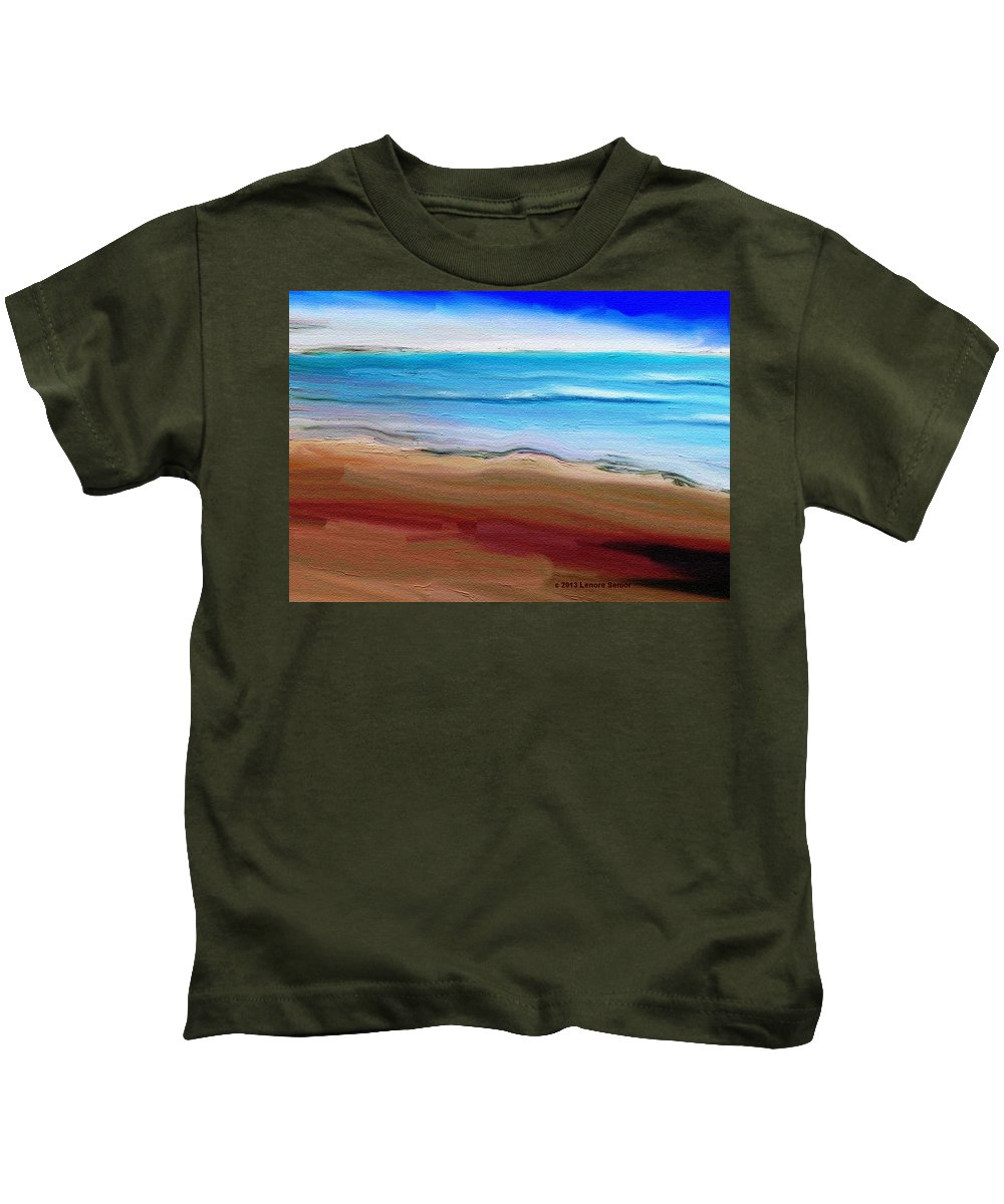 Expressive Kids T-Shirt featuring the painting Elements by Lenore Senior