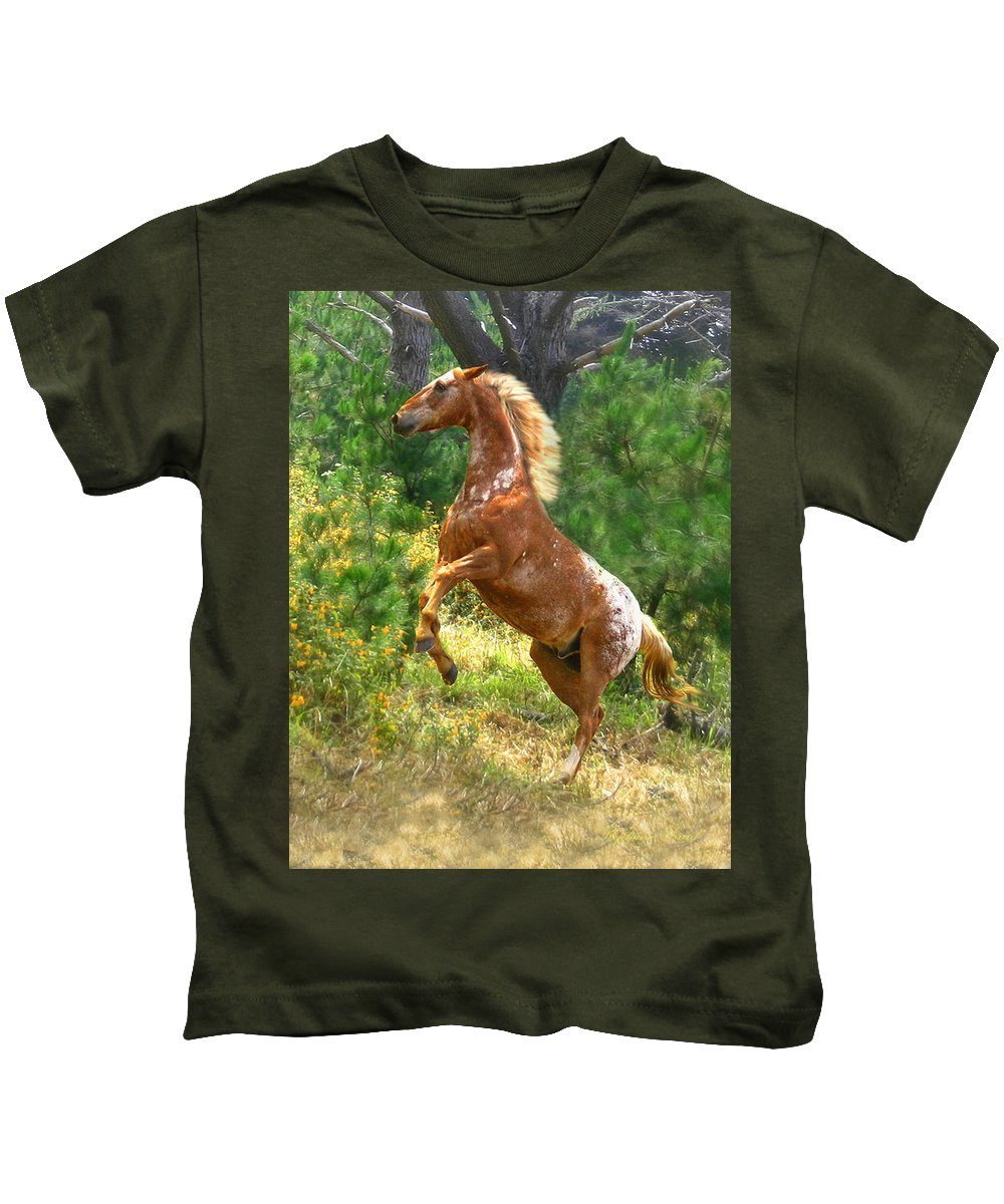Appy Kids T-Shirt featuring the photograph Enchanted Forest by Stephanie Laird