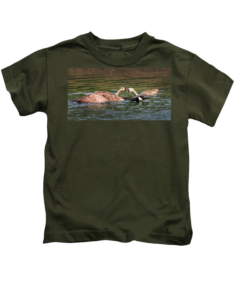 Goslings Kids T-Shirt featuring the photograph Every Parent Knows by Craig Bohnert