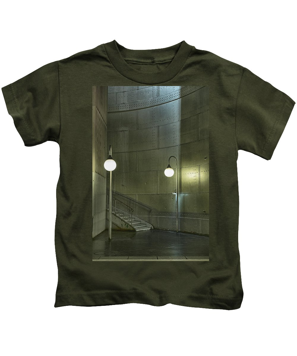 Paris Kids T-Shirt featuring the photograph Exit From The Paris Metro 01 by Russ Dixon