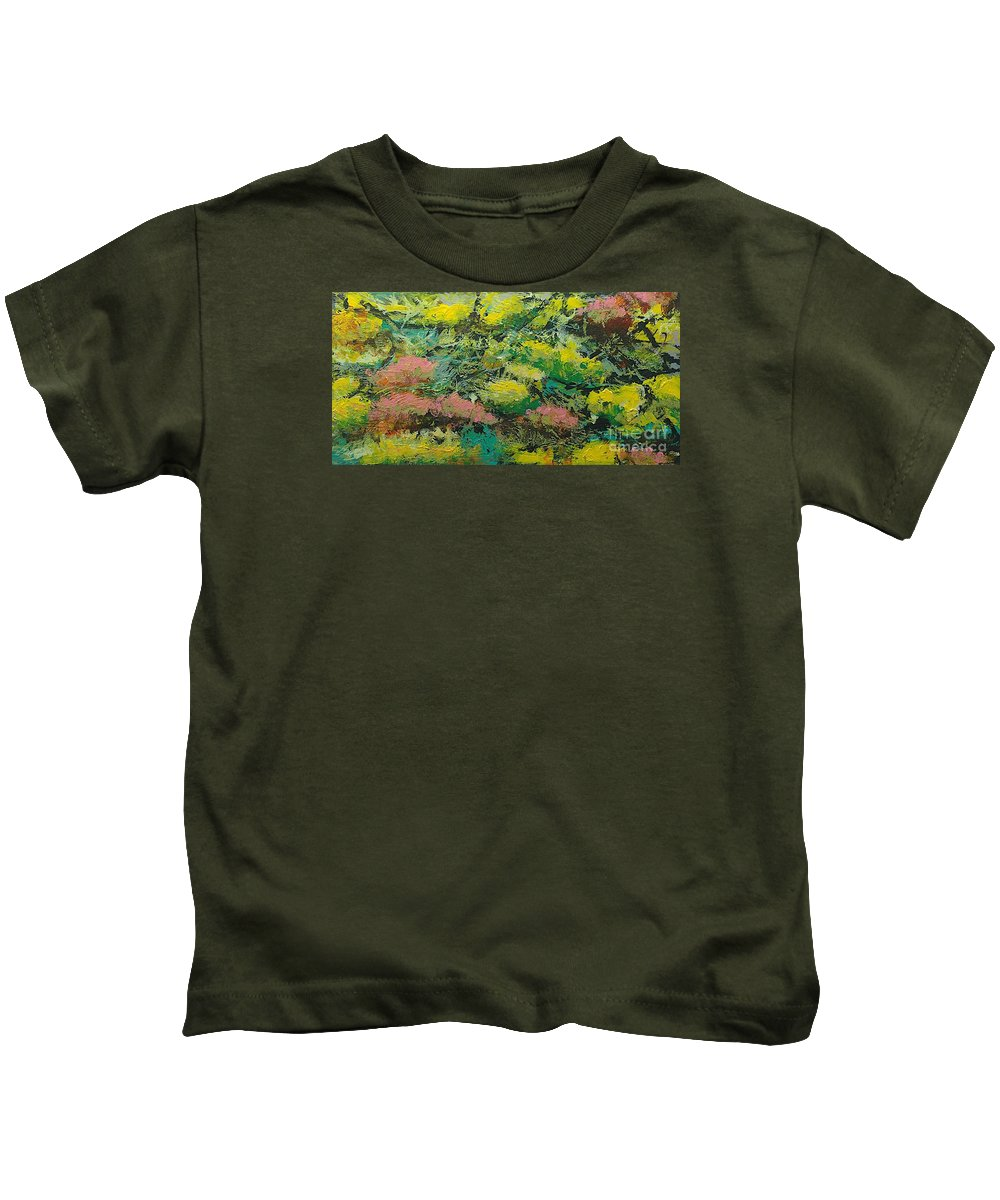 Landscape Kids T-Shirt featuring the painting Extract by Allan P Friedlander