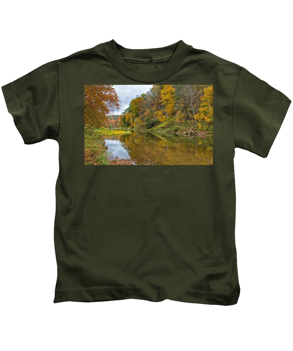 Tree Kids T-Shirt featuring the photograph Fall At Little Beaver Creek by John M Bailey