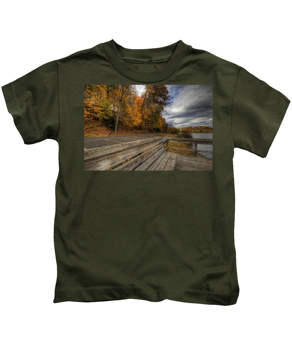 Mill Creek Kids T-Shirt featuring the photograph Fall In Mill Creek Park by David Dufresne