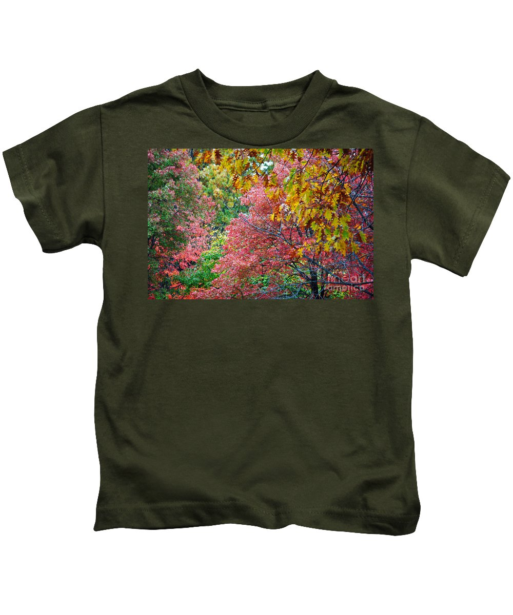 Fall Kids T-Shirt featuring the photograph Fall Tree Leaves by Jost Houk
