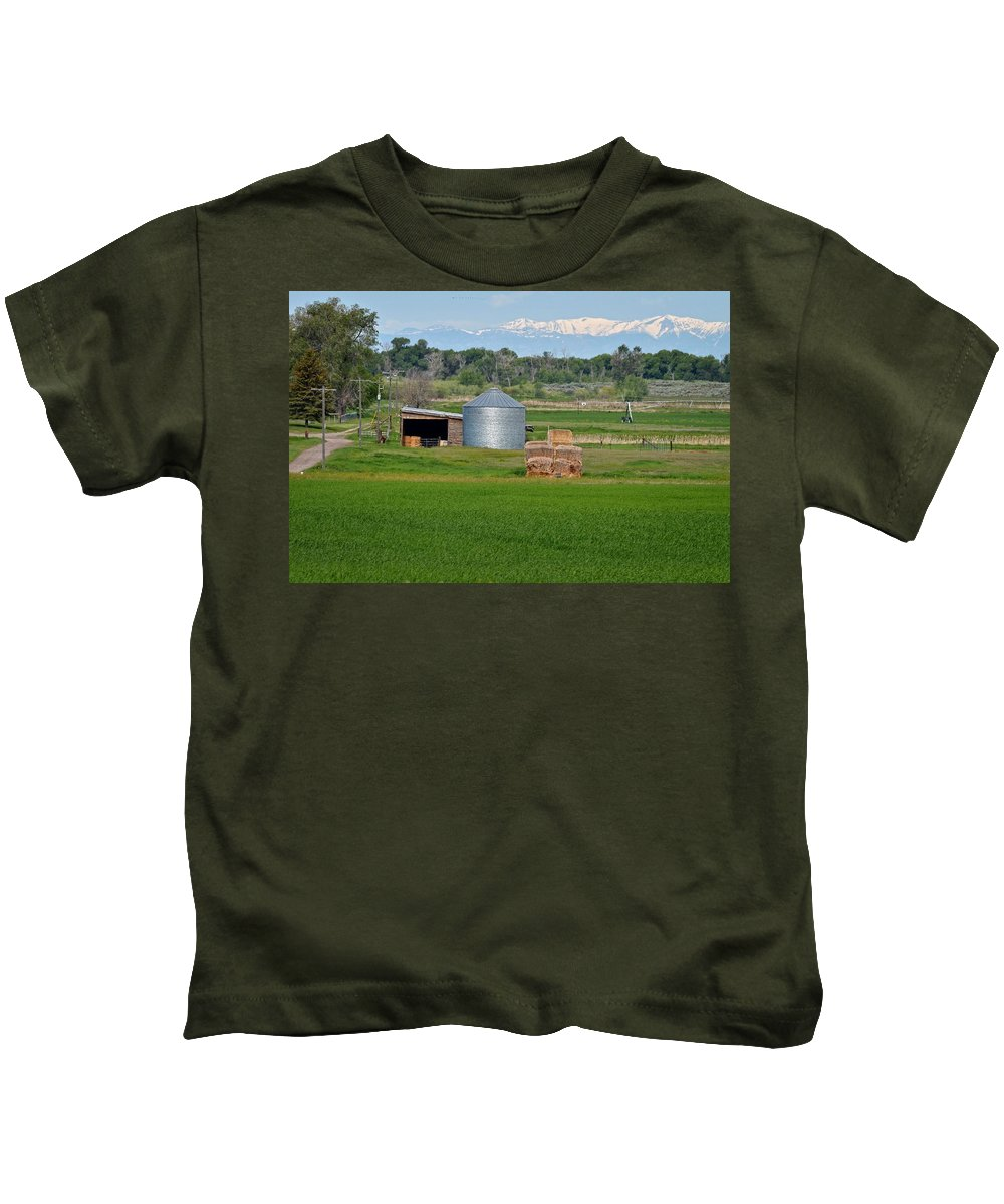 Idaho Kids T-Shirt featuring the photograph Farmland by Image Takers Photography LLC