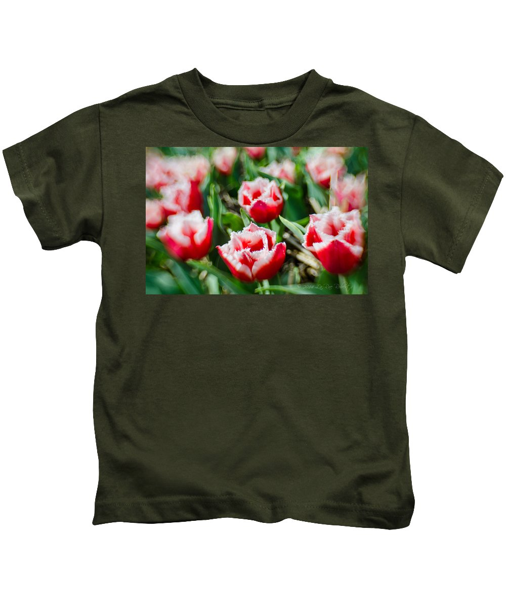 Farm Kids T-Shirt featuring the photograph Feather Red by La Rae Roberts
