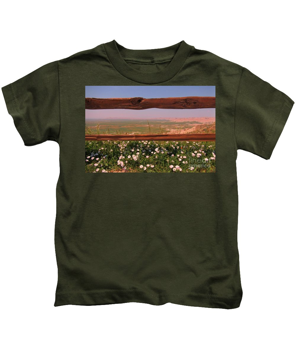 Fence Frame Kids T-Shirt featuring the photograph Fence Frame by John Malone