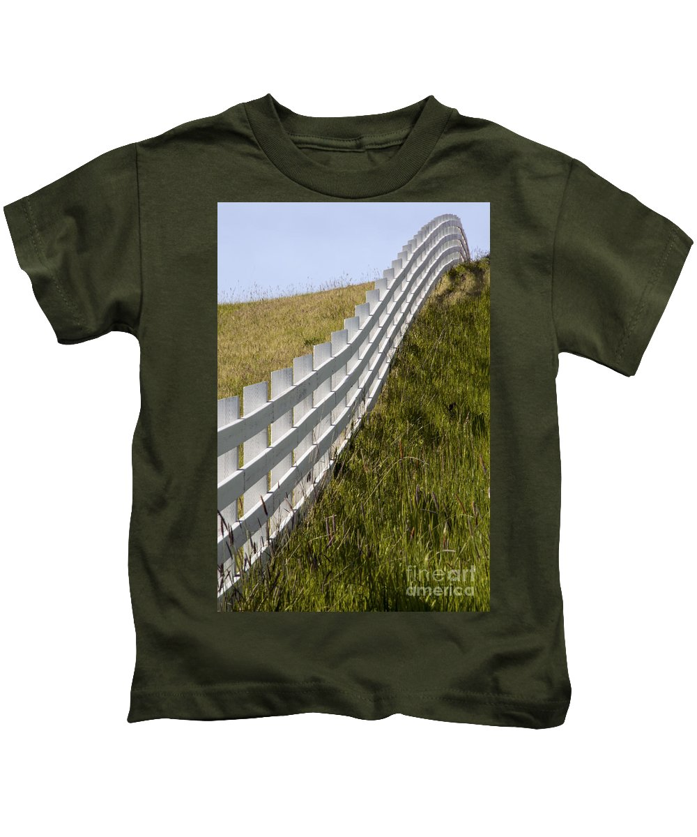 Palouse Area Kids T-Shirt featuring the photograph Fenced In Or Fenced Out by Bob Phillips