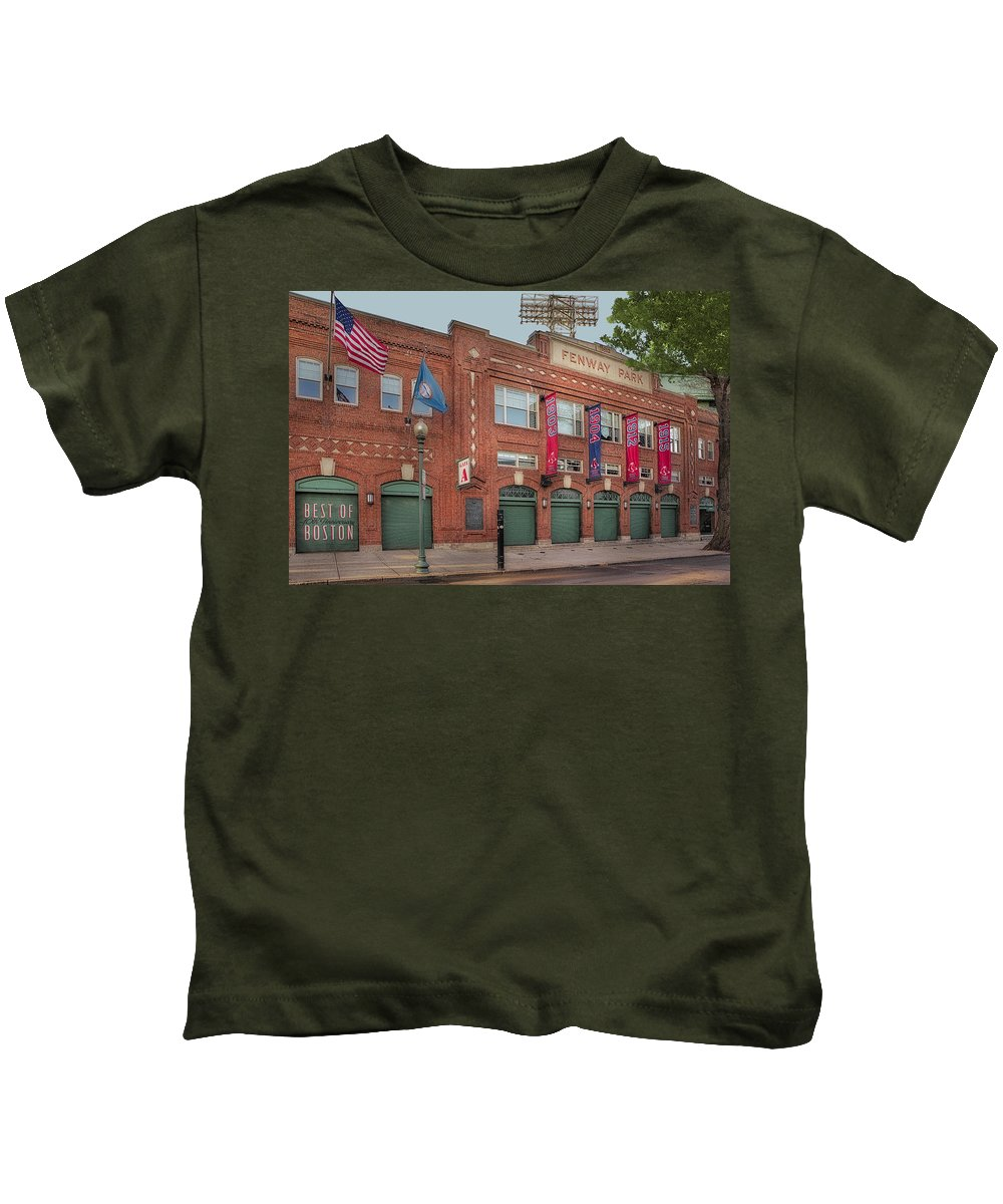 Fenway Park Kids T-Shirt featuring the photograph Fenway Park - Best Of Boston by Susan Candelario
