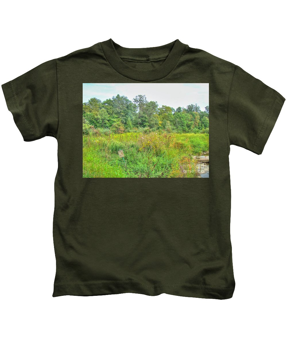 Field Kids T-Shirt featuring the photograph Field Of Dreams by Mother Nature