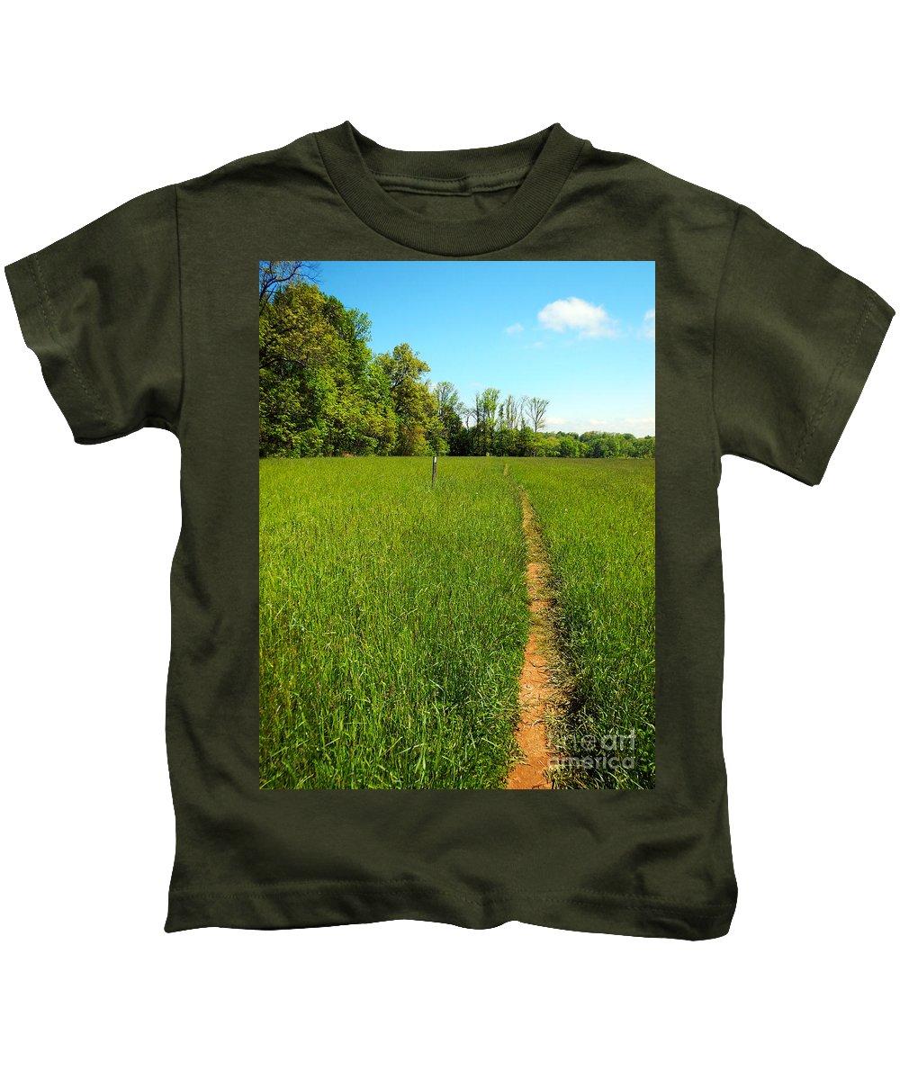 At Kids T-Shirt featuring the photograph Field Path by Glenn Gordon