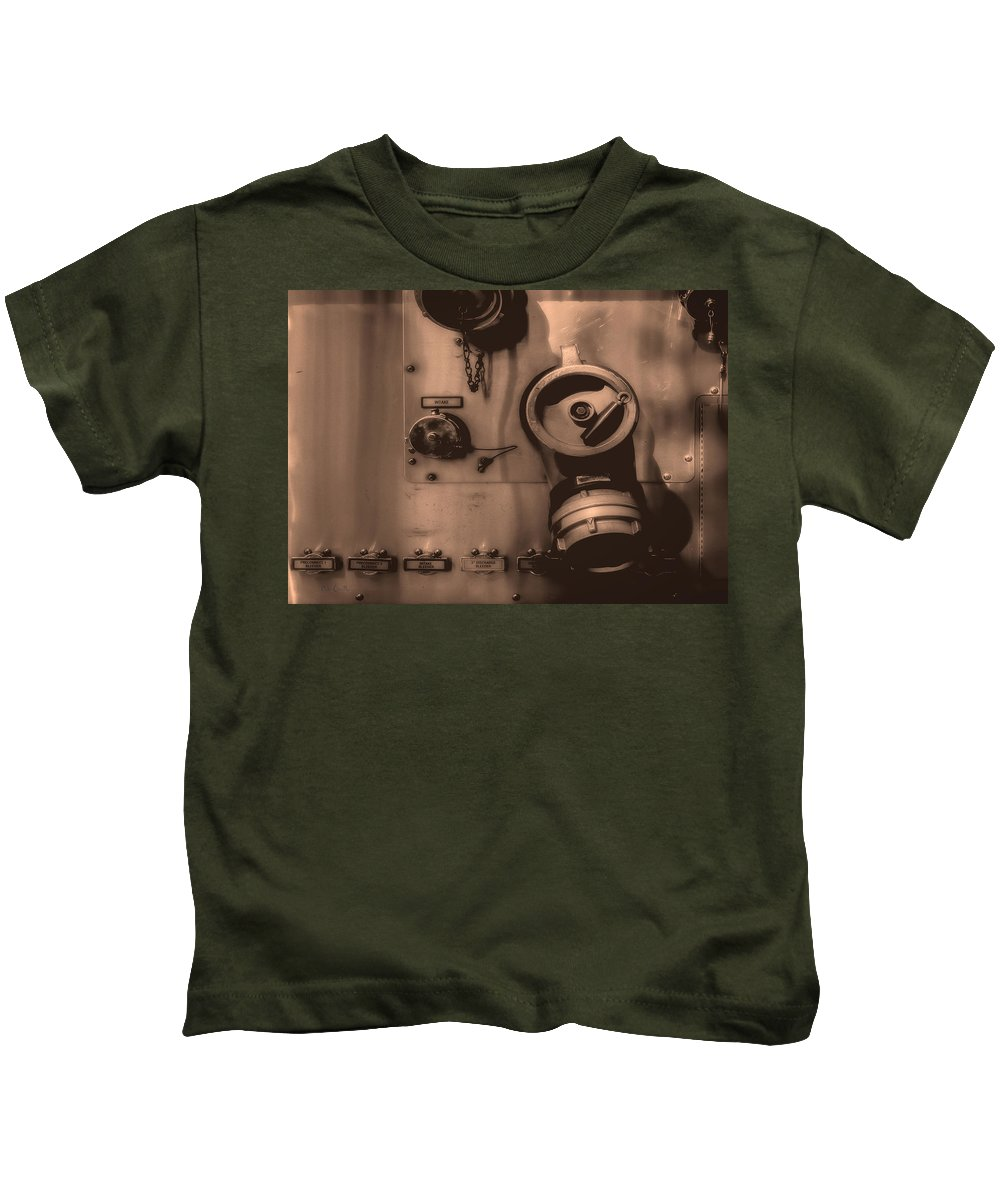 Firetruck Kids T-Shirt featuring the photograph Fire Engine Number Six by Bob Orsillo