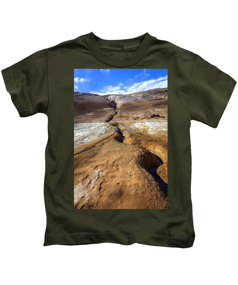 Europe Kids T-Shirt featuring the photograph Fissure by Alexey Stiop