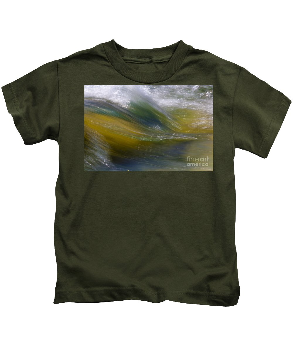 Heiko Kids T-Shirt featuring the photograph Floating River 2 by Heiko Koehrer-Wagner