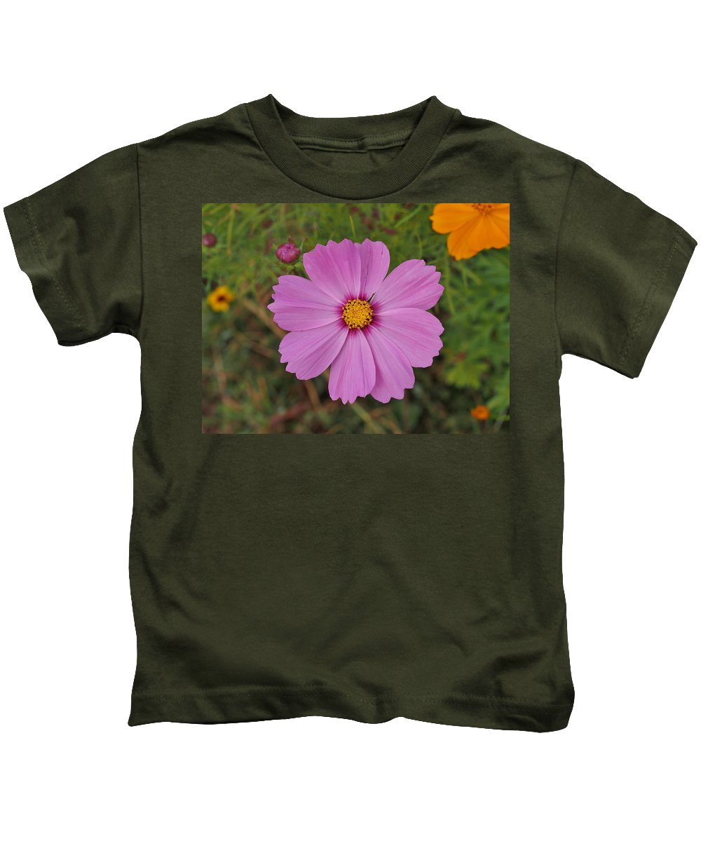 Purple Kids T-Shirt featuring the photograph Flora by William Morgan