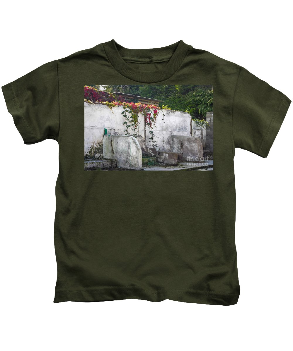 Ireland Kids T-Shirt featuring the photograph Flowered Remnants by DAC Photography