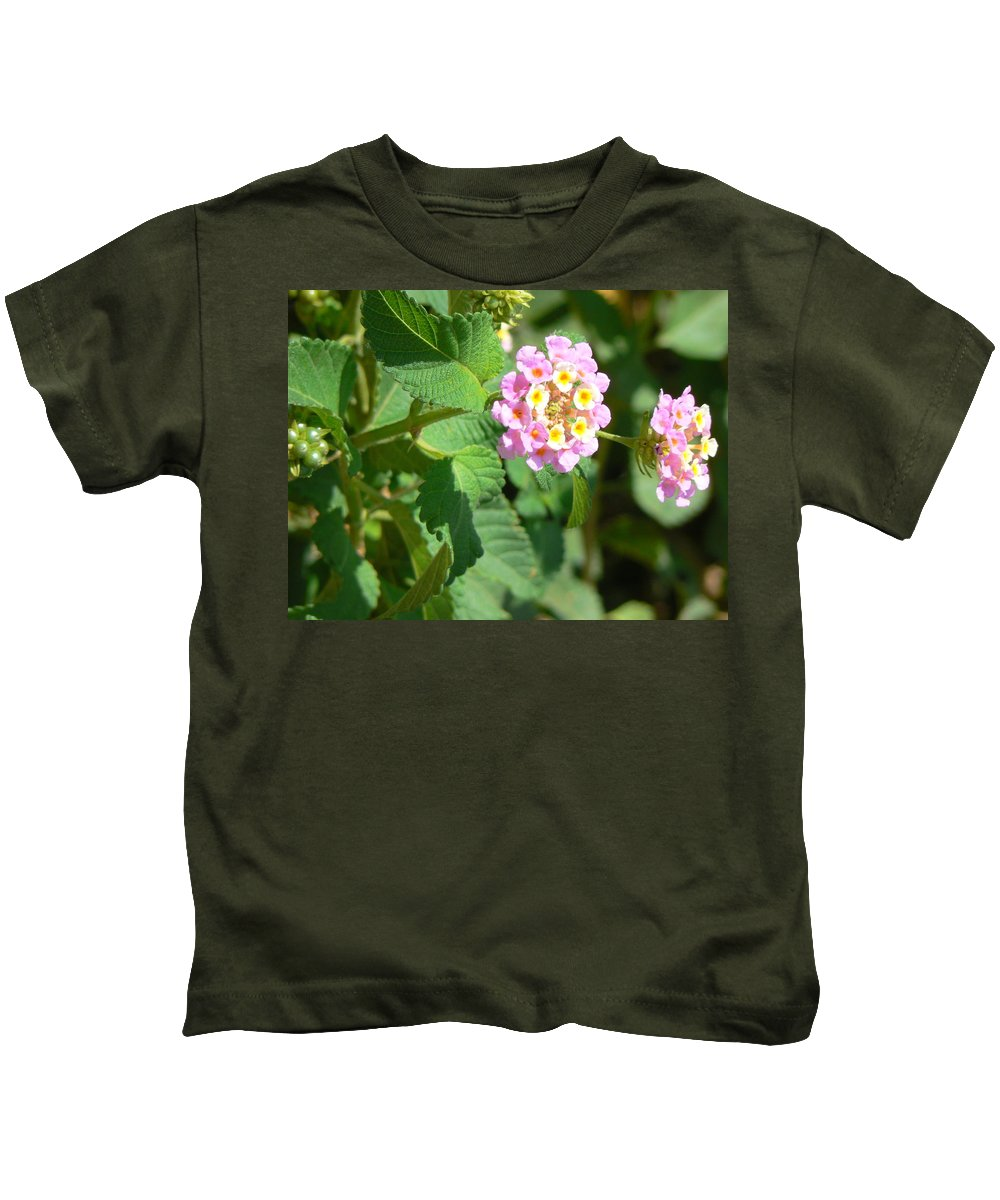 Israel Kids T-Shirt featuring the photograph Flowers Of Pink And Orange by Katerina Naumenko