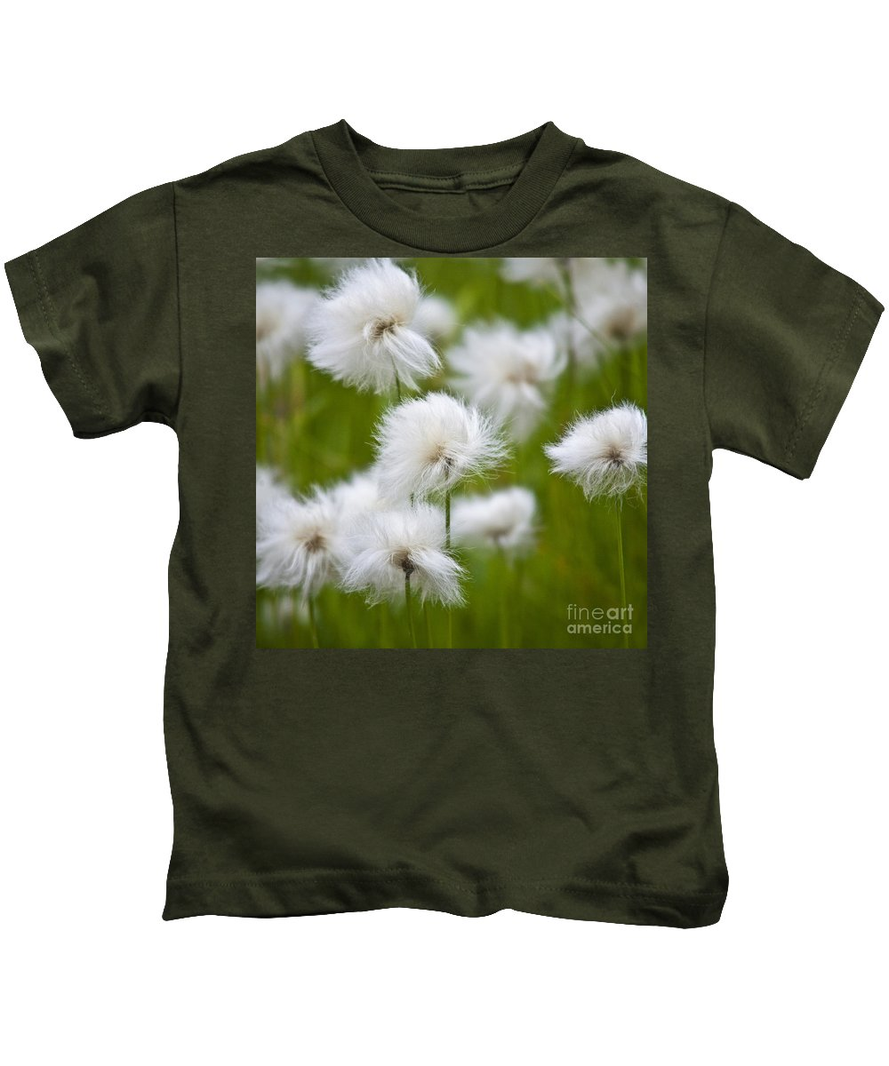 Heiko Kids T-Shirt featuring the photograph Flowery Cotton by Heiko Koehrer-Wagner
