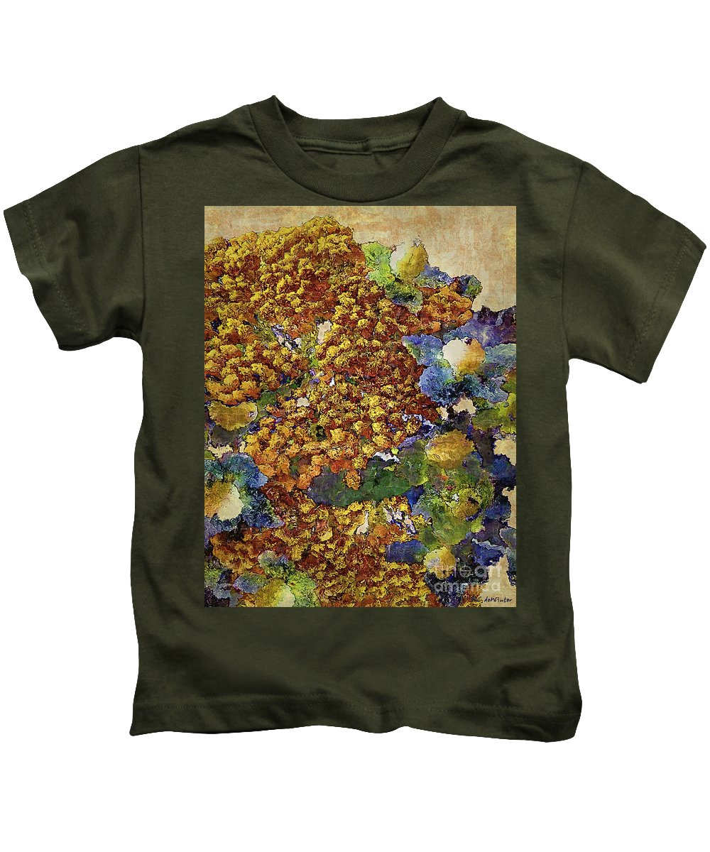 Tansy Kids T-Shirt featuring the painting French Country Print by RC DeWinter