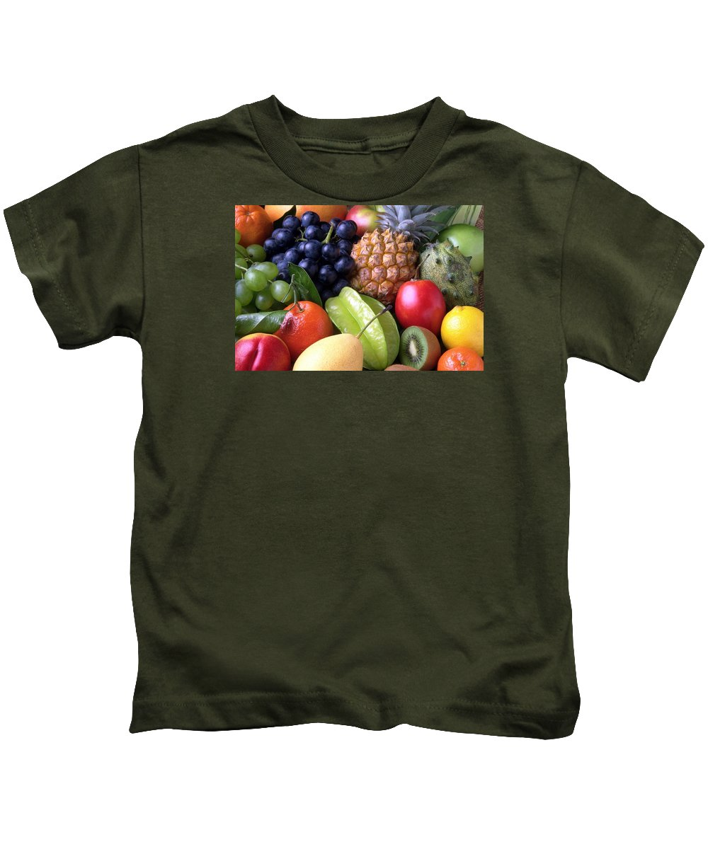 Fruit Kids T-Shirt featuring the photograph Fruits by FL collection