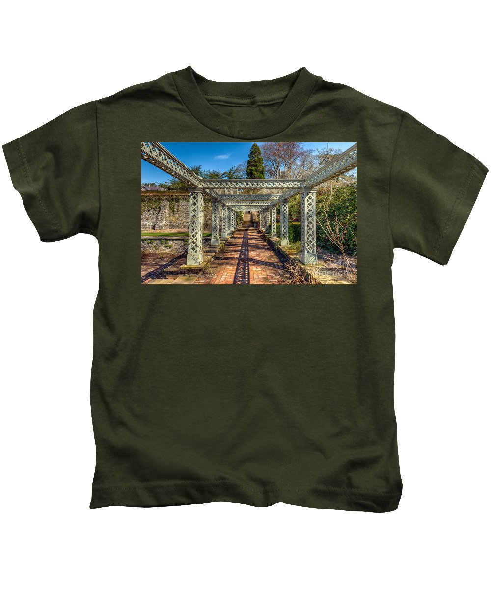 1792 Kids T-Shirt featuring the photograph Garden Path by Adrian Evans