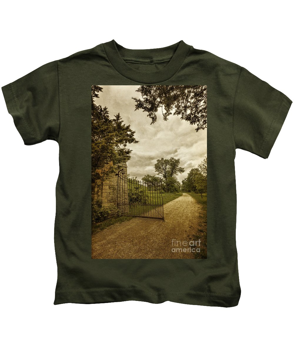 Old Kids T-Shirt featuring the photograph Gated Elegance by Margie Hurwich